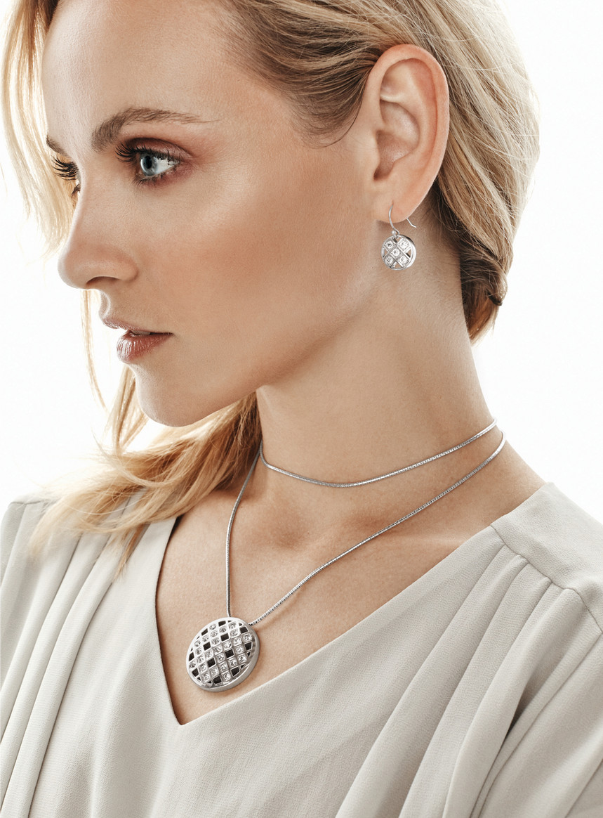 Brighton pendant necklace and French wire drop earrings